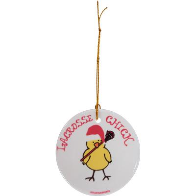 (Chick with Santa Hat Ornament)