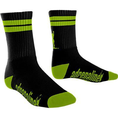 Black/Yellow (Adrenaline J-Train Eclipse Neon Socks)