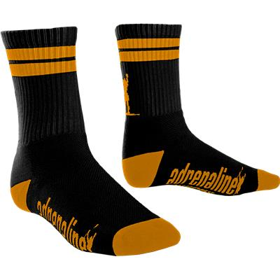 Black/Orange (Adrenaline J-Train Eclipse Neon Socks)