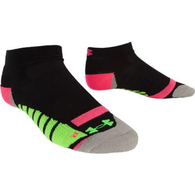 Black/Pinkadelic (Under Armour Cushion Run Socks)