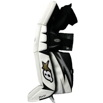 White/Black/Silver Side (Brians G-NETiK 5.0 Goalie Leg Pads)