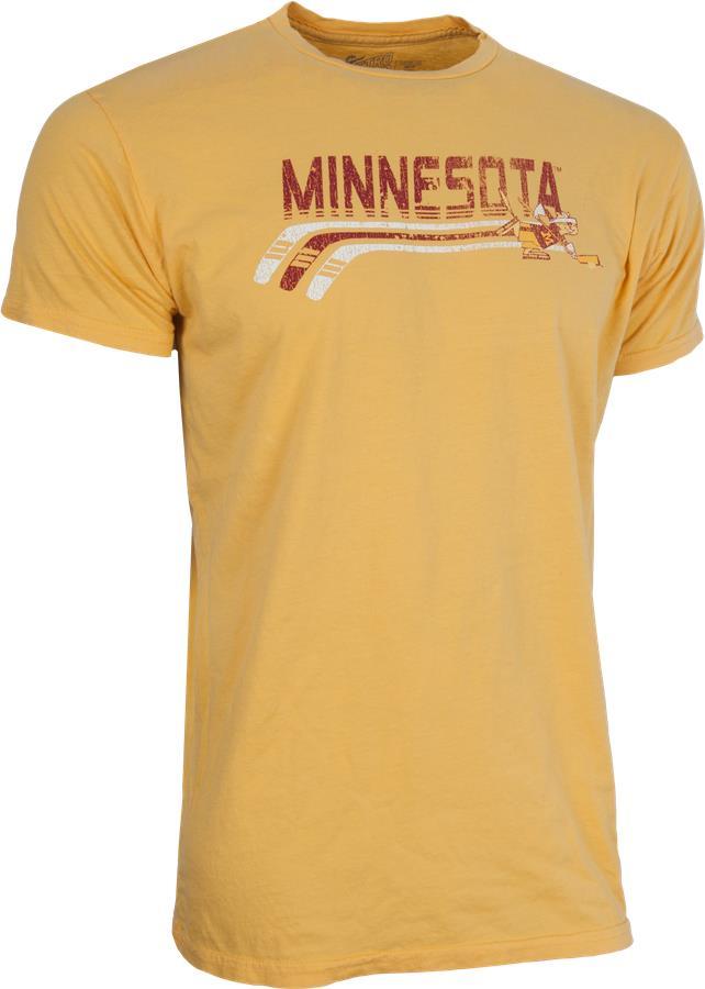 University Of Minnesota (Retro Brand College Hockey Stick Tee Shirt - Mens) f9ecaa90178