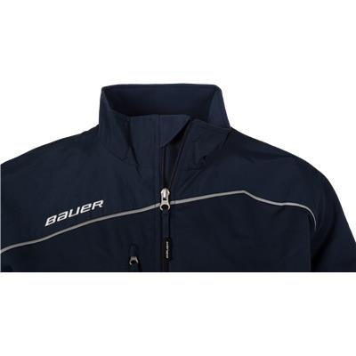 Collar Detail (Bauer Lightweight Warm-Up Jacket - Mens)