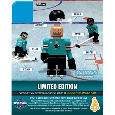 Back (OYO Sports San Jose Sharks NHL Mini Figures - Home Jersey)