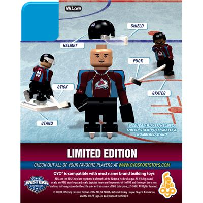 Back (OYO Sports Colorado Avalanche NHL Mini Figures - Home Jersey)