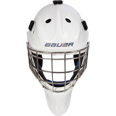 Front (Bauer NME 8 Certified Straight Bar Goalie Mask - Senior)