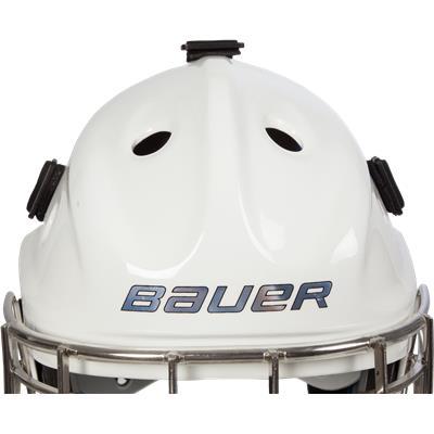 Front Detail (Bauer NME 8 Certified Straight Bar Goalie Mask - Senior)