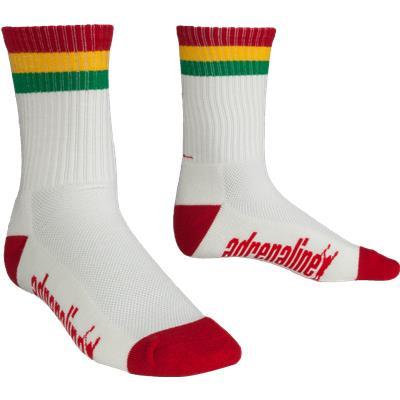 White (Adrenaline Rasta Socks)