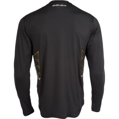 Back (Bauer Elite Padded Goalie Long Sleeve Shirt - Mens)