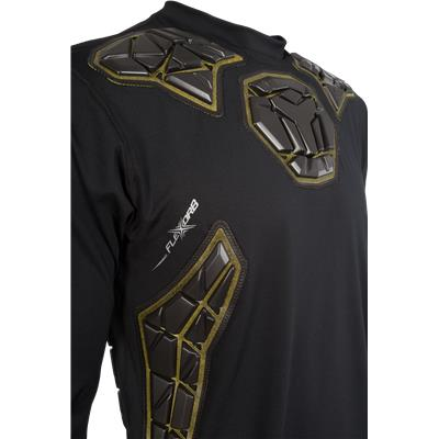 Front Detail (Bauer Elite Padded Goalie Long Sleeve Shirt - Mens)