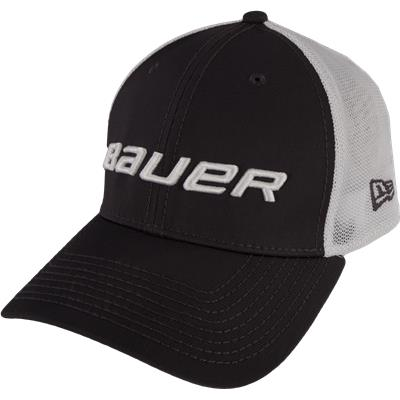 Black (Bauer 39THIRTY Stretch Mesh Fitted Hat)
