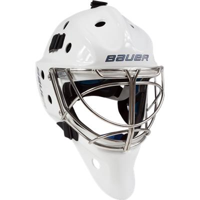 NME 8 Non-Certified Cat-Eye Cage - White (Bauer NME 8 Non-Certified Cat-Eye Goalie Mask)