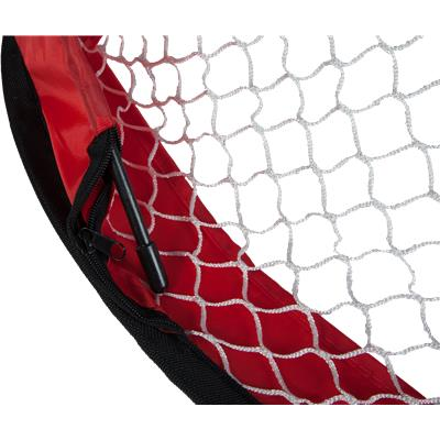 Net Is Fully Collapsible (Warrior Pop-Up Mini Hockey Net w/ Sticks & Ball)