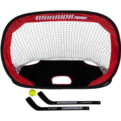 Mini Popup Net (Warrior Pop-Up Mini Hockey Net w/ Sticks & Ball)