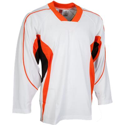 White/Orange/Black (FlexxIce LITE 14100 Practice Jersey - Junior)