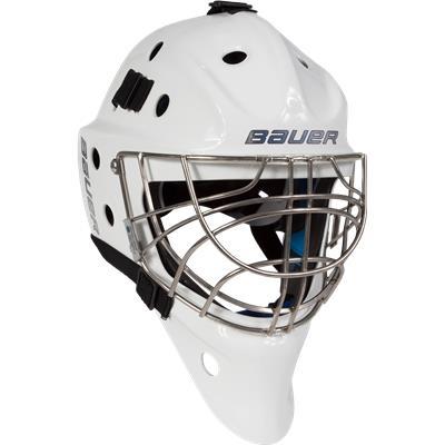 White (Bauer NME 8 Certified Cat-Eye Goalie Mask)