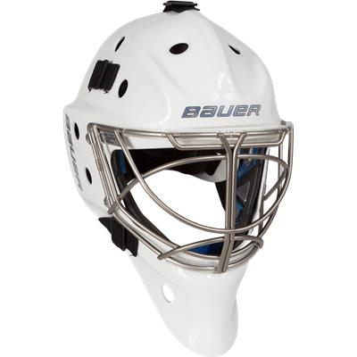 White (Bauer NME10 Non-Certified Cat-Eye Goalie Mask)