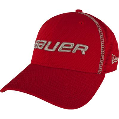 Red (Bauer Training 39THIRTY Fitted Hat - Adult)