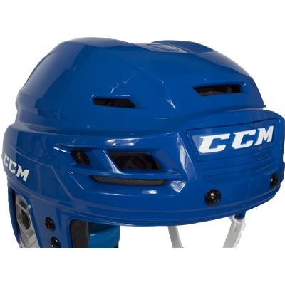 Zoomed Front View (CCM Resistance 300 Hockey Helmet)