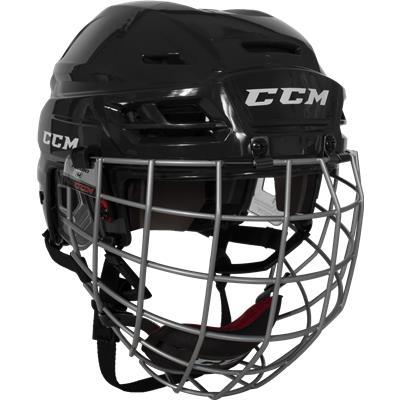 Black (CCM RES 100 Hockey Helmet Combo)