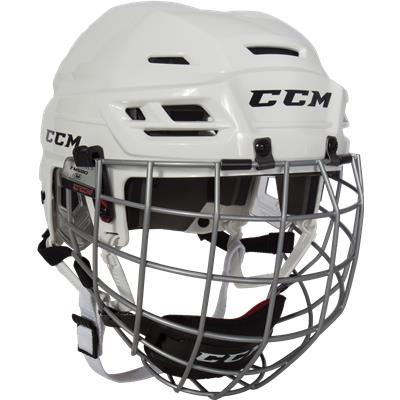 White (CCM RES 100 Hockey Helmet Combo)