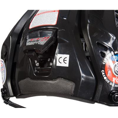Adjustment View (CCM RES 100 Hockey Helmet)