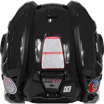 Back View (CCM Resistance 300 Hockey Helmet Combo)