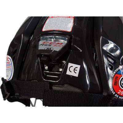 Closeup Of Back (CCM Resistance 300 Hockey Helmet Combo)