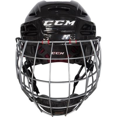 Front View (CCM Resistance 300 Hockey Helmet Combo)