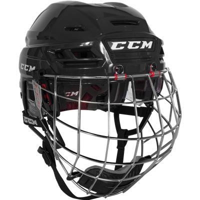 Black (CCM Resistance Hockey Helmet Combo)