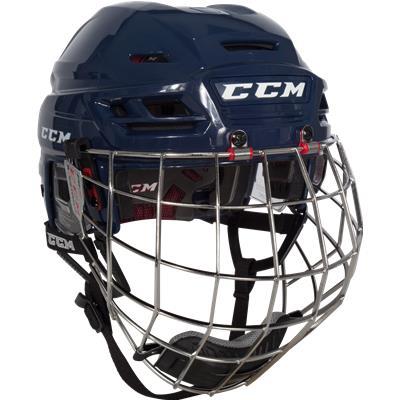 Navy (CCM Resistance Hockey Helmet Combo)