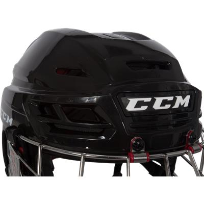Front Three Quarters View (CCM Resistance Hockey Helmet Combo)