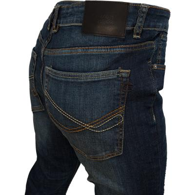 Closeup Of Back Pocket (Bauer Relaxed Fit Jeans - Tinted Wash - Mens)