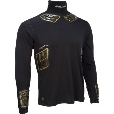 Mens (Bauer Elite Padded NeckProtect Long Sleeve Shirt - Adult)