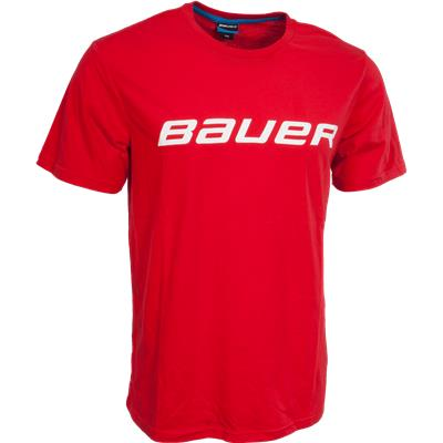 Red (Bauer Core Tee Shirt - Mens)