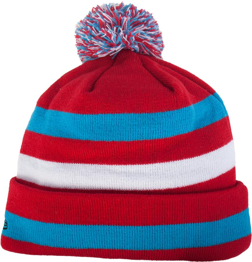 59b4539e956f0 Back View (Bauer Stripe Cuffed Pom Knit Hat - Mens)