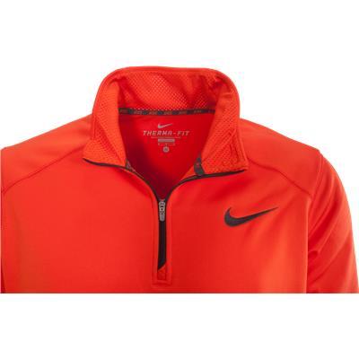 Swoosh (Nike KO Quarter Zip Long Sleeve Pullover Jacket)