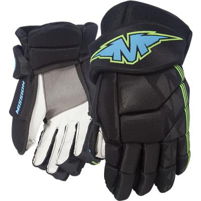 Black/Blue (Mission Inhaler DS:3 Hockey Gloves)
