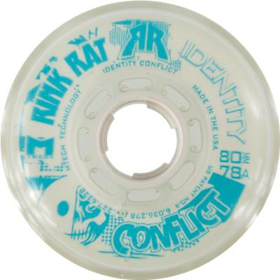 White/Blue (Rink Rat Identity Conflict Inline Wheel)