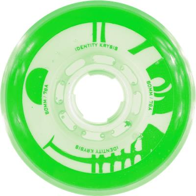 Green/White (Rink Rat Identity Krysis Inline Wheel)