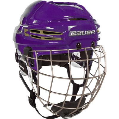 Example Of Purple Shell w/ Vegas Gold Vents (Bauer RE-AKT 100 CUSTOM Hockey Helmet Combo)