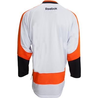 Back View (Reebok Philadelphia Flyers Premier Jersey - Away/White - Adult)