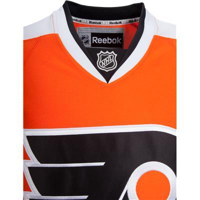 Collar View (Reebok Philadelphia Flyers Premier Jersey - Home/Dark - Adult)