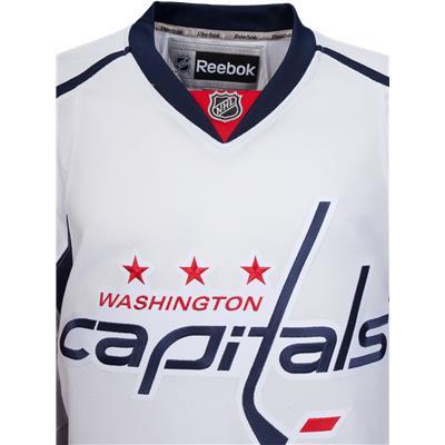 Collar View (Reebok Washington Capitals Premier Jersey - Away/White)