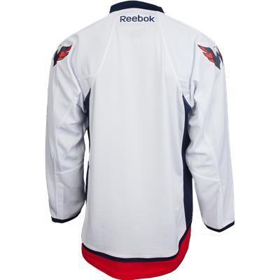 Back View (Reebok Washington Capitals Premier Jersey - Away/White)