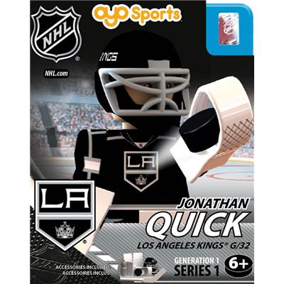 Jonathan Quick (OYO Sports Los Angeles Kings NHL Mini Figures - Home Jersey)