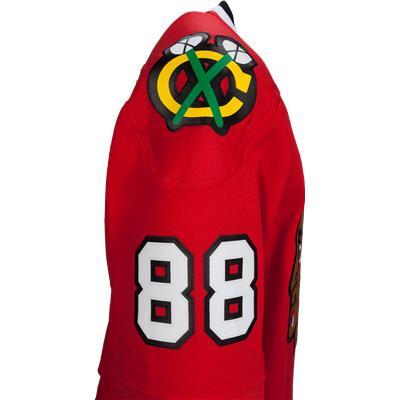 No. 88 on  Bicep (Reebok Patrick Kane Chicago Blackhawks Premier Jersey - Home/Dark)