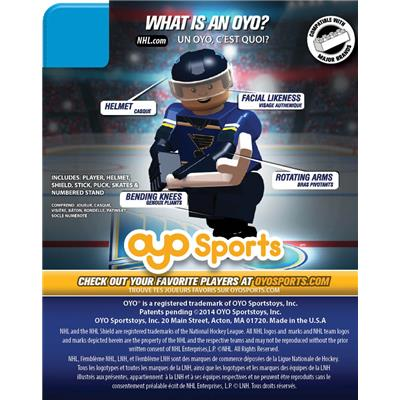 (OYO Sports Blues OYO NHL Mini Figures - Home Jersey)