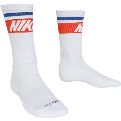 White (Nike Dri-Fit Fly Rise Crew Socks - 3 Pack - Mens)