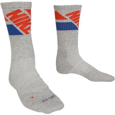 Grey (Nike Dri-Fit Fly Rise Crew Socks - 3 Pack)